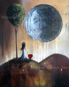 Little Girl with Heart Pet - Shawna Erback