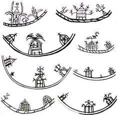 [Drawings of Saami symbology used on ritual drums & possibly in prehistoric rock art in northern Eurasia? Esoteric Symbols, Paleolithic Art, Lappland, Native American Artists, Art Deco, Art Nouveau, Celtic Designs, Sacred Art, Tribal Art