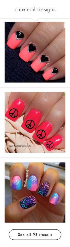 """""""cute nail designs"""" by jasmine444 ❤ liked on Polyvore featuring nails, beauty products, nail care, nail treatments, makeup, nail polish, unhas, nail art, beauty and batman"""