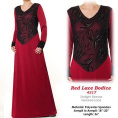 Lace Bodice Jersey Modest Islamic Abaya Long Sleeves by MissMode21, $34.00