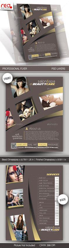 Salon & Spa Flyer & Poster Template #design Download: http://graphicriver.net/item/salon-spa-flyer-poster-template-/12648091?ref=ksioks