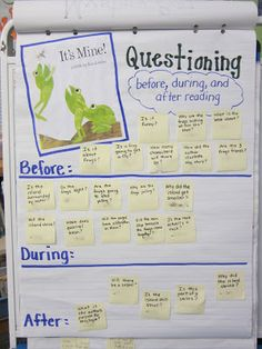 Questioning chart - Love this! Could use the general format for any book, any grade! Also includes a freebie!!