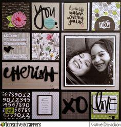 Kristine Davidson: Cherish - CS Sketch 269   Creative Scrappers