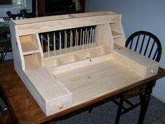 Custom fly tying desk by Spencer Cook.