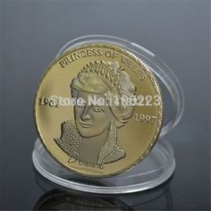 Princess of Wales souvirn Coin 1961-1997 The People's Princess Souvenior gold plated coins