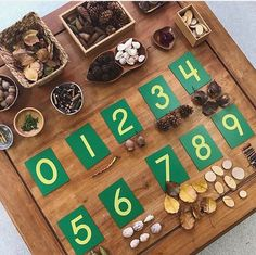 loose parts play numberplay looseparts reggioinspired Maths Eyfs, Numeracy Activities, Eyfs Classroom, Literacy And Numeracy, Play Based Learning, Learning Through Play, Early Learning, Reggio Emilia Classroom, Reggio Inspired Classrooms