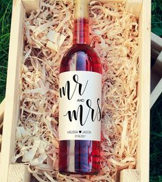 Majority of these wine bottle pastimes present you with a large number of techniques to reuse and reinvented this everyday item. Wedding Wine Labels, Wedding Wine Bottles, Wedding Favors, Custom Wine Labels, Wine Bottle Labels, Altered Bottles, Label Templates, Bridal Shower, Champagne