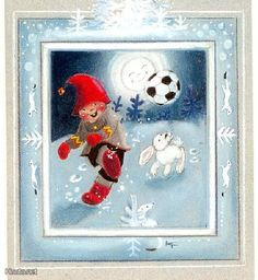 Kaarina Toivanen (my collection) - pioni pionia - Picasa Web Albums Christmas Clipart, Christmas Cards, Christmas Ornaments, Swedish Christmas, Christmas Pictures, Elves, Finland, Illustrators, Cute Pictures