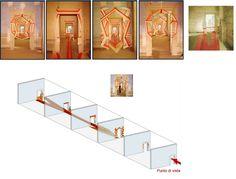 Anamorfosi, Stella Battaglia e Gianni Miglietta. Allestimento per la mostra: Nel segno di Masaccio. L'invenzione della prospettiva Firenze, Galleria degli Uffizi, 16 ottobre 2001 - 7 aprile 2002.