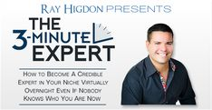 The 3-Minute Expert is my brand new video training program that teaches you how to establish your authority in ANY niche.