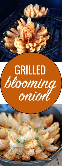 Take your favorite Aussie appetizer outdoors with this easy recipe for grilled blooming onion from #GirlsCanGrill