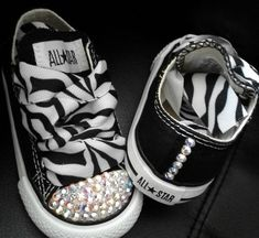 Bling ConverseZebra bling converseBling kid shoes by GlitterMeBaby, $50.00