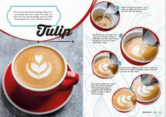 Coffee Art tulip sample page