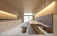 Bank für Innenbereich / modern / aus MDF / aus Eiche TRESTLE by John Pawson Viccarbe