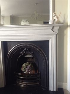 Fireplace Makeover In Annie Sloan Chalk Paint Undercoat And Mantle