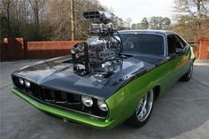 1971 Supercharged Plymouth Hemi 'Cuda. Dream Cars, Dream Auto, Cars Motorcycles, Hot Rods, Drag Racing, Car Memes, Driving Quotes, Car Quotes, Amazing Cars