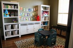 "Playroom/basement idea. May be cheaper to buy 3 pieces for cheap then a whole ""set"". Especially for a kid area where they're just gonna wreck them!"
