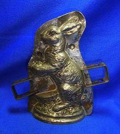 Vintage German Metal Eastern Rabbit Chocolate Mold #CB1