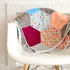 Modern Handcraft for Sizzix // Hexagon Snuggle Quilt