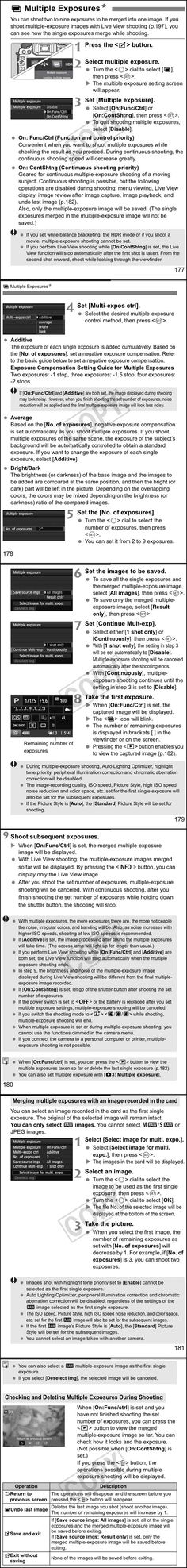 multiple exposure mode and how it works