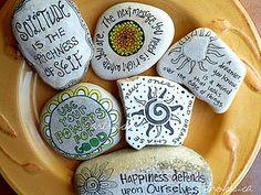 Artrocks Inspired Stones by ArtRocks by Karen, via Flickr