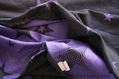 I *REALLY* want this one. paxbaby, kokadi, Merlin, hemp, stars, black, purple, woven wrap, babywearing