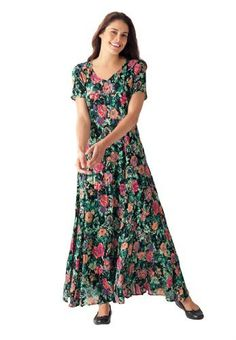 Woman Within Plus Size Dress in Maxi Length, floral print, crinkle fabric Woman Within, http://www.amazon.com/dp/B009OHUEU6/ref=cm_sw_r_pi_dp_aSSVqb1R7BZNZ