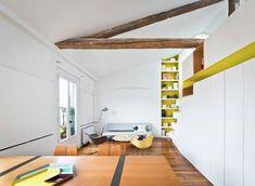 Apartamento branco e amarelo com soluções incríveis de design - limaonagua