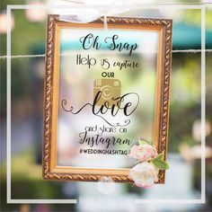 Wedding Sign Decal - Help Us Capture Our Love