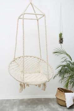 Oh my god I need this I am hands down in love with this Marrakech Natural Swing Chair from Urban Outfitters