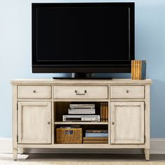Have to have it. Hammary Americana Home Entertainment Unit - Weathered White - $1000 @hayneedle