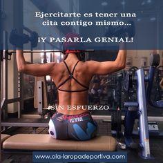 Ejercitarte es tener una cita contigo misma… Y pasarla genial.  http://www.ola-laropadeportiva.com/  #Esfuerzo #Motivación #Disciplina #Colombia