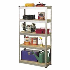 AMAZON Hammerfast Shelving Unit H: 1500mm, W: 800mm, D: 300mm SKU# 216489  5 Shelves. Can be assembled as a workbench. Ideal for the workshop, garage or home. 50kg per shelf capacity. Props not included.  Ready to assemble