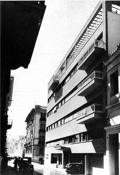 Τhe Greatest Greek Architects - Thoukidides Valentis- Exarhia, Athens, 1934 Greece Architecture, Greek, Multi Story Building, Modernism, Well Well, Athens Greece, Mystery, Architecture