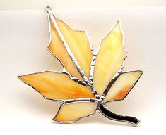 Handcrafted Stained Glass Maple Leaf by rparishwoodworks on Etsy