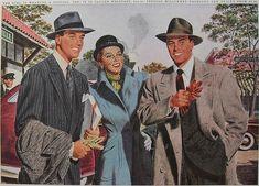 1950s Men's Women's Fashion Illustration Advertisement STETSON HATS by Christian Montone, via Flickr