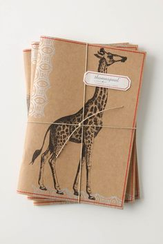 animal printed journals