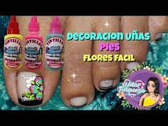 ♥Decoración de uñas flores fácil ♥Decoracion de uñas en Negro - YouTube
