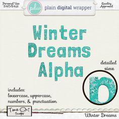 Winter Dreams Alpha - PU/S4H/S4O #plaindigitalwrapper #timeoutscraps #digitalscrapbooking #hybridscrapbooking