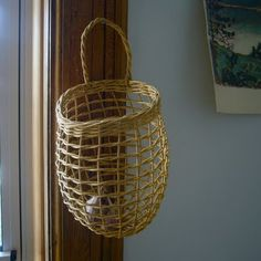 Check out the Shaker Onion Basket in Baskets & Trugs, Baskets, Bins, & Trugs from Cooper Hewitt for Storing Onions, Fruit And Vegetable Storage, Slow Design, Wooden Basket, Object Lessons, Fibres, Basket Weaving, Wicker, Baskets