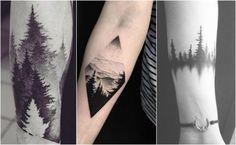 Niesmowity motyw lasu jako tatuaż. Robi wrażenie!