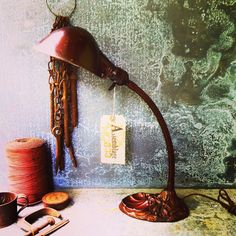 Items similar to Gooseneck Lamp / Industrial Lighting / Shell Motif / Desk Lamp / Cloth Wire and Vintage style Plug on Etsy Desk Lamp, Table Lamp, Bronze Patina, Industrial Lighting, Cottage Chic, Lamps, Shells, My Etsy Shop, Vintage Fashion