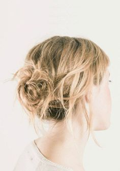 Check out this great tutorial to learn how to style your hair into a messy bun.