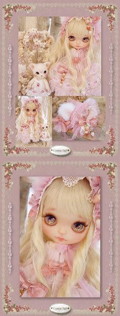 Custom Blythe Dolls: Cotton Tail Custom Blythe Kitten Princess - A Rinkya Blog