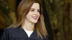 PHOTO: Emma Watson walks between buildings following commencement services on the campus of Brown University, Sunday, May 25, 2014, in Providence, R.I.