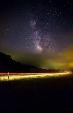 Cloudy Milkyway  Blue Ridge Parkway