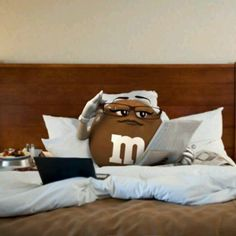 Ms Brown M & M reading in bed M&m Characters, Fictional Characters, Peanut M&ms, Miss Green, House Of M, M M Candy, Reading In Bed, Favorite Candy, Funny Kids