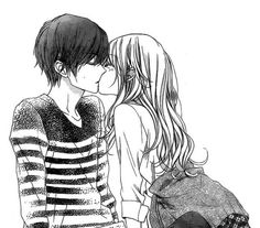 When you are looking for something all your life and although in your mind it is the clearest thing in the world, you cannot achieve it in reality amor boy dark manga mujer fondos de pantalla hot kawaii Couple Anime Manga, Manga Anime, Anime Couple Kiss, Anime Amor, Art Manga, Cute Anime Couples, Anime Couples Hugging, Anime Girls, Cosplay Anime