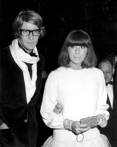 """""""Yves Saint Laurent and Helene Rochas, """"Phedre"""" Paris Premiere, Paris Opera House, 1968"""" © Ron Galella / Staley-Wise Gallery New York"""