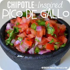 Copycat Chipotles Pico de Gallo Salsa   MomOnTimeout.com #copycat #salsa #recipe